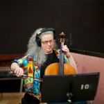 Resonance cellist Nancy Bien at Fantasy Studios