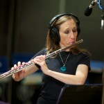 Resonance flutist Laura Austin Wiley at Fantasy Studios