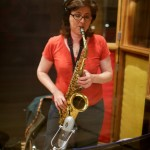 Resonance saxophonist Georgianna Krieger at Fantasy Studios