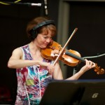 Resonance violinist Nancy Walther at Fantasy Studios