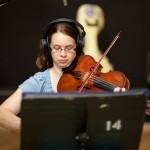 Resonance violist Michelle Mastin at Fantasy Studios
